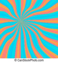 Colored orange lollypop background - Colored back Pop Art...