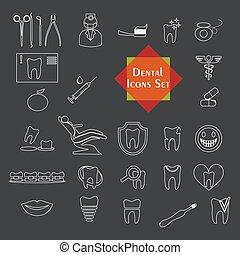 the stomatology set - illustration on the theme of medicine...