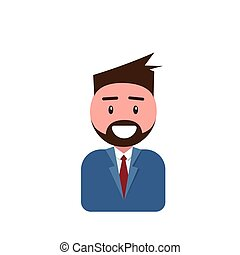 Profile Icon Male Avatar Man, Hipster Cartoon Guy Beard...