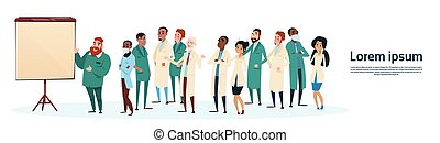 Mix Race Medical Doctors Group Team People Intern Lecture...