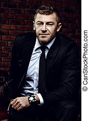 respectable mature man - Business, success and luxury...