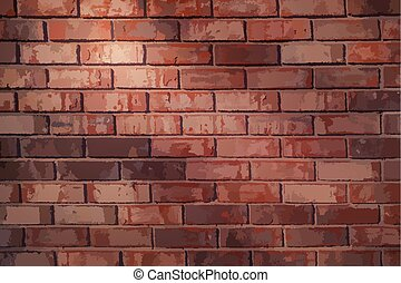 Brick wall background texture - Vector brick wall background...