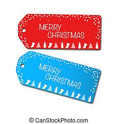 Christmas Sale Tags Illustration - Christmas sale tags...