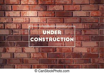 Under Construction Illustration - Under construction...