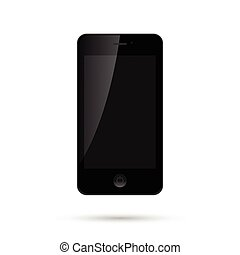 Mobile Smart Phone Vector Illustration