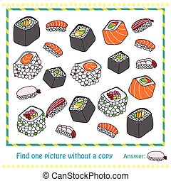 different types of sushi - game