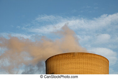 Cooling tower of a nuclear power plant