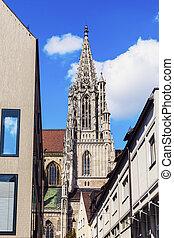 Ulm Minster - Monumental Ulm Minster. Ulm,...