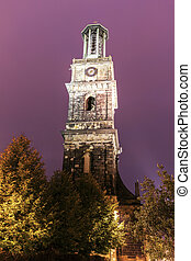 Aegidien church tower in Hanover. Hanover, Lower Saxony,...