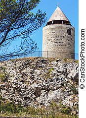 Old mill in Fontvieille. Fontvieille, Provence-Alpes-Cote...