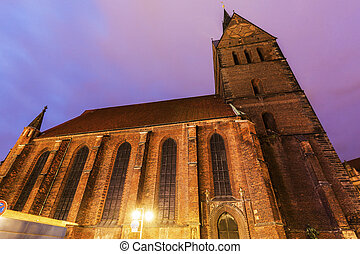 Marktkirche in Hanover. Hanover, Lower Saxony, Germany