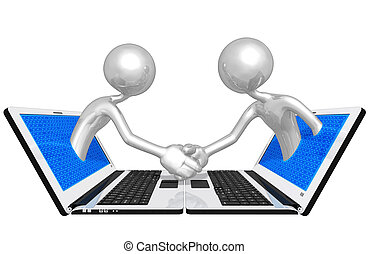 WWW Online Handshake Business