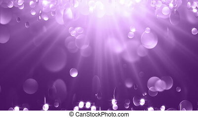 Violet Particle Background. Loop