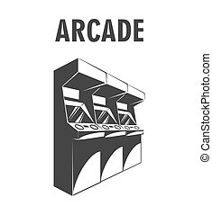 Vector illustration retro arcade - Arcade Machine. The Video...