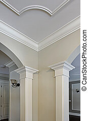 Close up of moulding in new construction home
