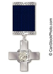 The George Cross medal awarded for exceptional bravery to...