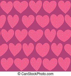 Seamless hearts pattern - Seamless hand drawn dotted hearts...