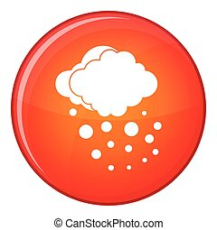 Cloud with hail icon, flat style - Cloud with hail icon in...