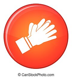 Clapping applauding hands icon, flat style - Clapping...