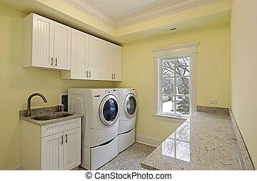 lavanderia, sala, luxo, lar