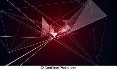 Red DNA Triangle Animation Arts Background Biochemistry...