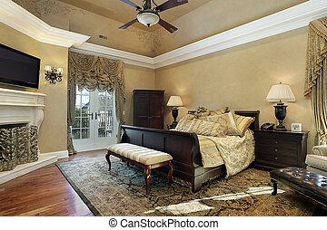 Master bath in elegant home - Master bedroom in elegant home...