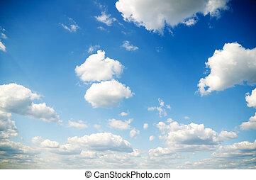 Sky daylight and many white clouds on blue sky background....