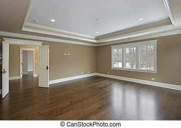 Maître, bain, plateau, plafond
