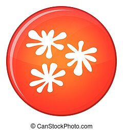 Paintball blob icon, flat style - Paintball blob icon in red...