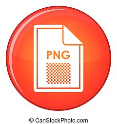 File PNG icon, flat style - File PNG icon in red circle...