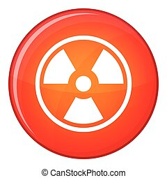 Danger nuclear icon, flat style - Danger nuclear in simple...