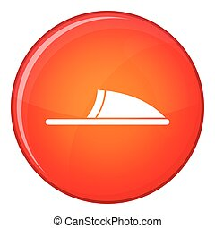 Slippers icon, flat style