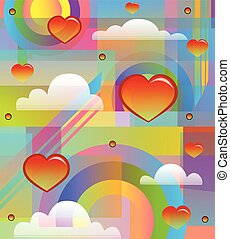 80's Style design - colorful and radiant 80's style design...