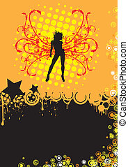 Orange Ultra Disco Party - Design for your disco or party...