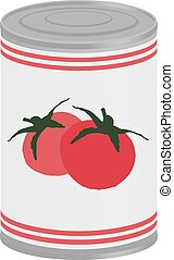 tomatoes can illustration - design of tomatoes can...