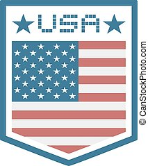 USA emblem - creative deisgn of USA emblem