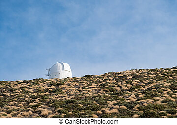 astronomical observatory station  buildings on mountain