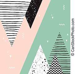 Abstract geometric Scandinavian style pattern with...