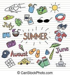 Summer sketch set