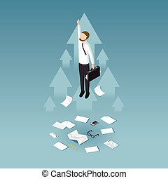 Business growth concept illustration - Profit increase and...