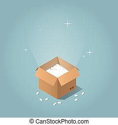 Isometric mail service illustration - Isometric vector mail...