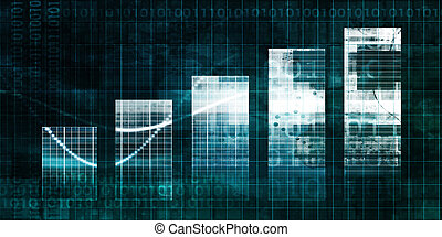 Bar Chart Technology Abstract Background for Presentation