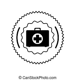 Isolated medical kit design - Medical kit icon. Medical...