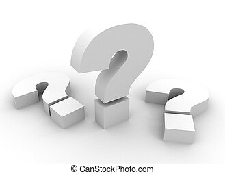 question marks - 3d question marks on white background