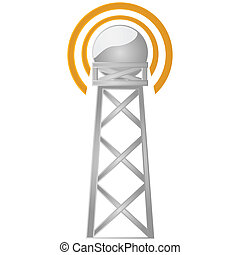 Communications tower - Illustration of a communications...