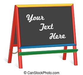 Chalkboard Easel, Wide Frame - Chalkboard easel, wide multi...