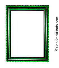 wooden frame for painting or picture on white background.