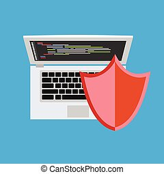 Personal computer security. Security concept. Antivirus.