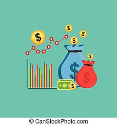 Business profit concept illustration.
