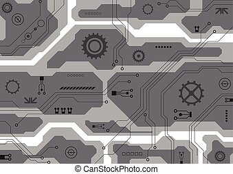Vector circuit board background technology. illustration